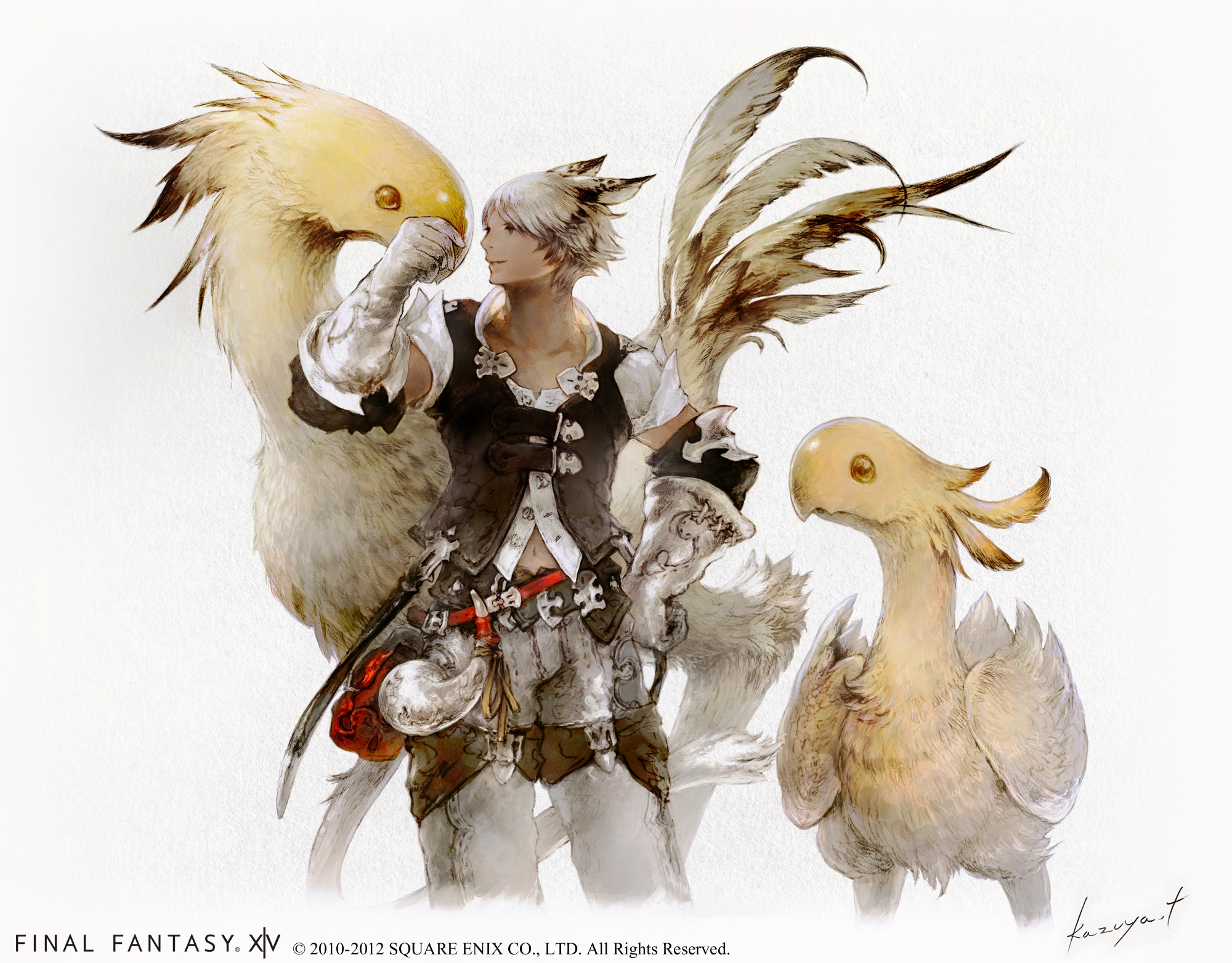 final fantasy xiv 2 0 character classes introduced and new artwork