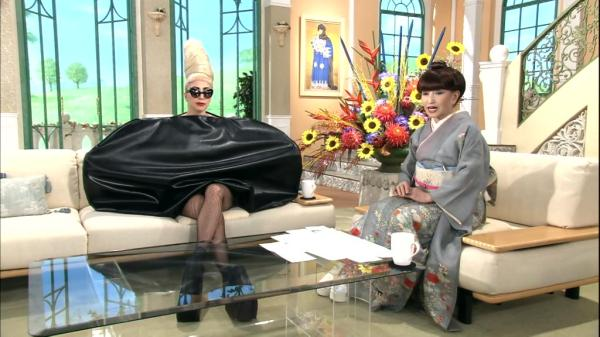 A picture from an ordinary Japanese morning show