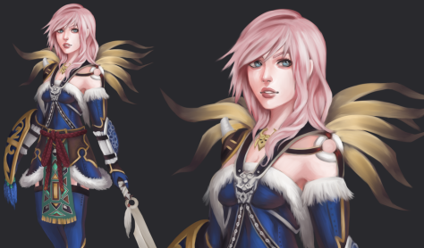 Amazing Kimahri outfit for Lightning by Acetea-san.