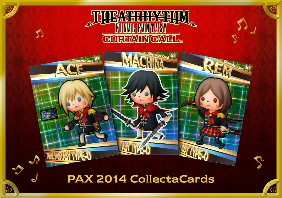 Anyone Who Plays Theatrhythm: Final Fantasy Curtain Call At PAX Prime 2014  (Square Enixu0027s Booth #3630) Will Receive A Set Of Rare Final Fantasy Type 0  ...