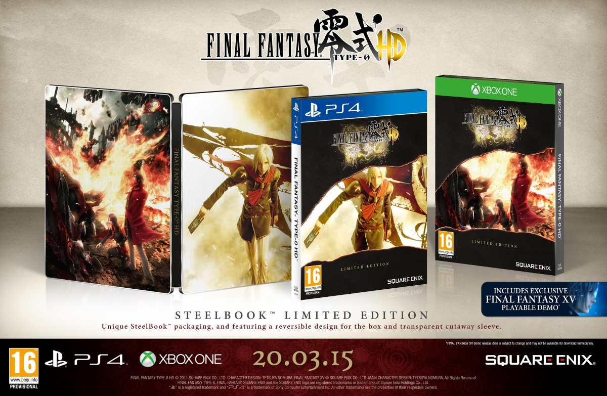 Final Fantasy Type-0 HD Will Get Two Limited Editions